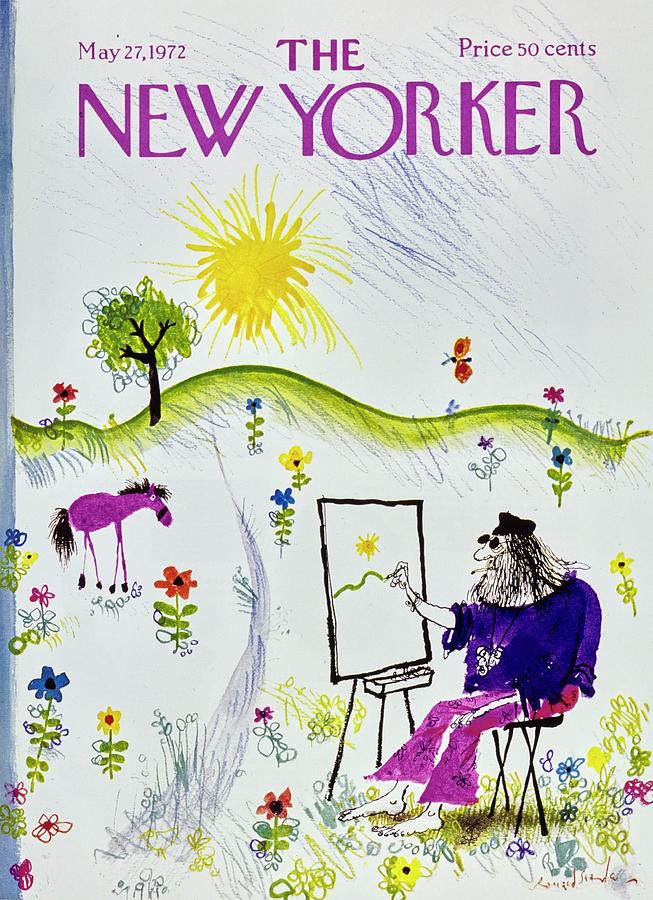 New Yorker May 27th 1972 Painting by Ronald Searle