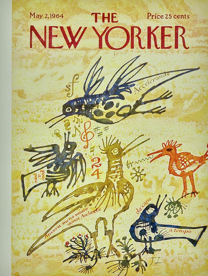 New Yorker May 2nd 1964 Painting by Joseph Low