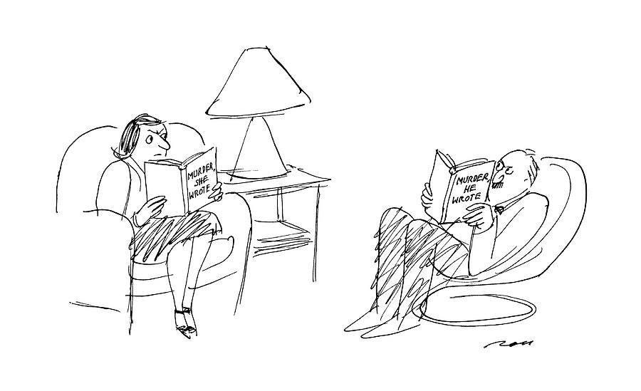 Marriage Drawing - New Yorker May 2nd, 1988 by Al Ross