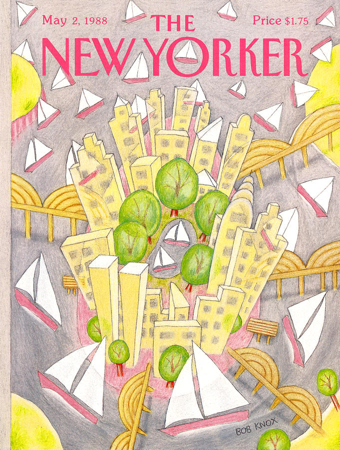 New Yorker May 2nd, 1988 Painting by Bob Knox