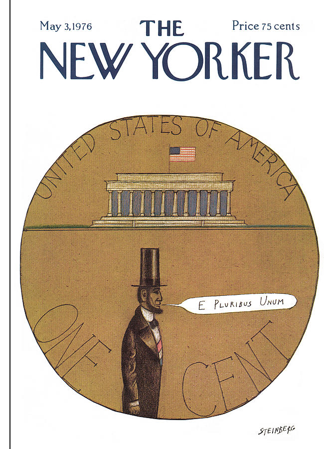 New Yorker May 3rd, 1976 Painting by Saul Steinberg