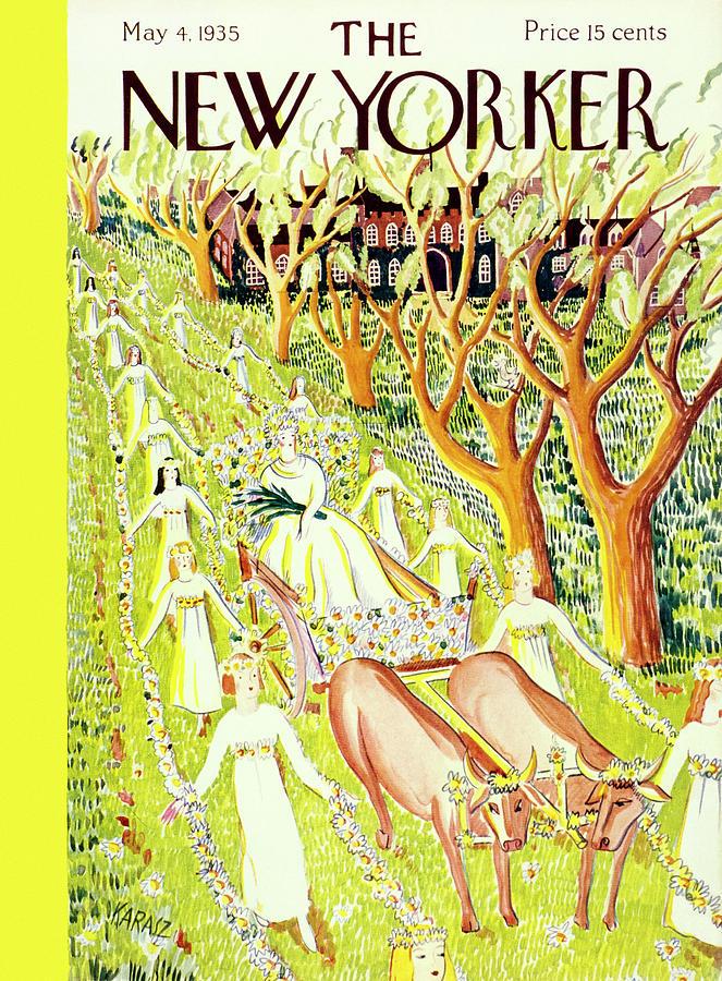 New Yorker May 4 1935 Painting by Ilonka Karasz