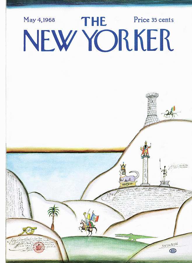 New Yorker May 4th, 1968 Painting by Saul Steinberg