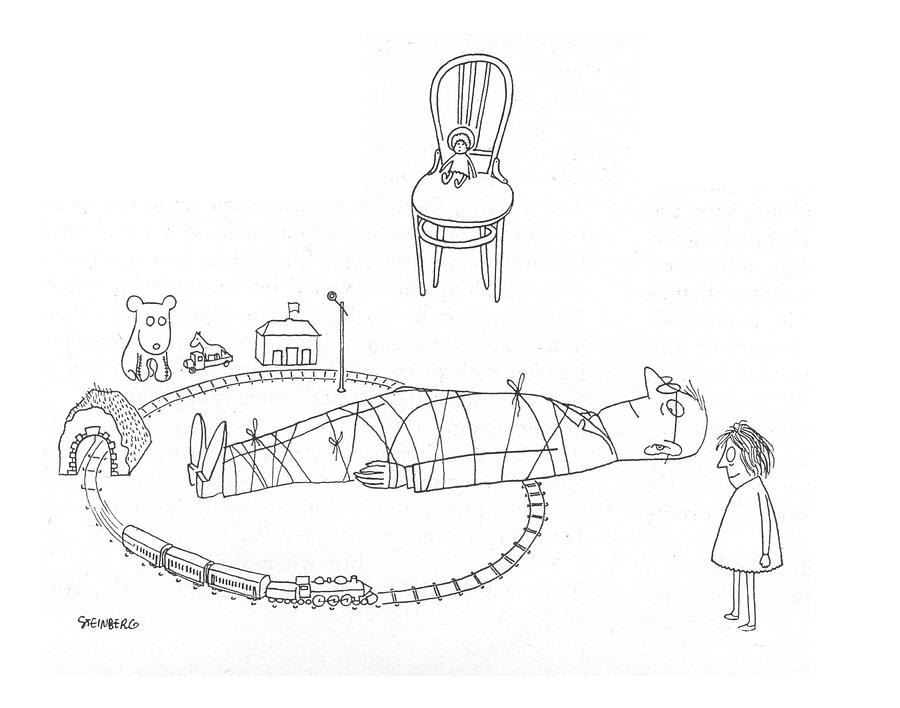 New Yorker May 6th, 1944 Drawing by Saul Steinberg