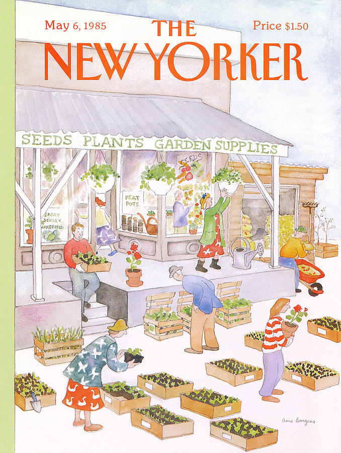 New Yorker May 6th, 1985 Painting by Anne Burgess