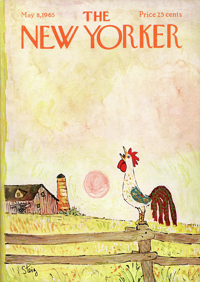 Rural Painting - New Yorker May 8th, 1965 by William Steig