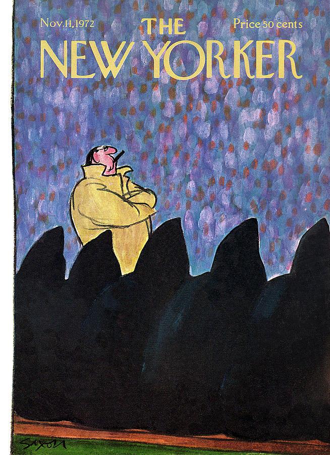 New Yorker November 11th, 1972 Painting by Charles Saxon