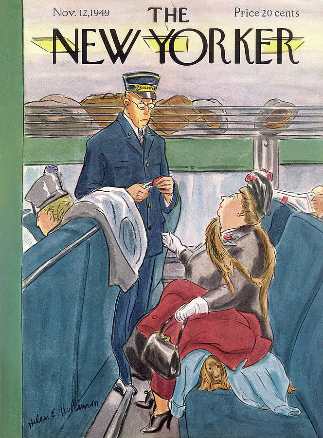 New Yorker November 12th, 1949 Painting by Helen E Hokinson