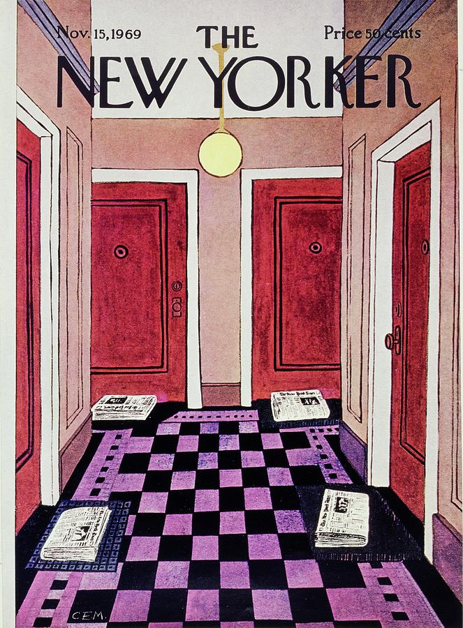 New Yorker November 15th 1969 Painting by Charles E Martin