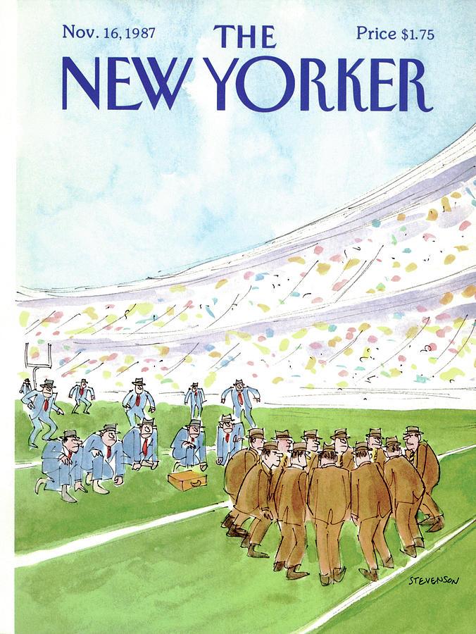 New Yorker November 16th, 1987 Painting by James Stevenson