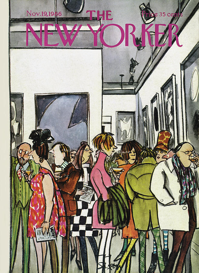 New Yorker November 19th, 1966 Painting by Charles Saxon