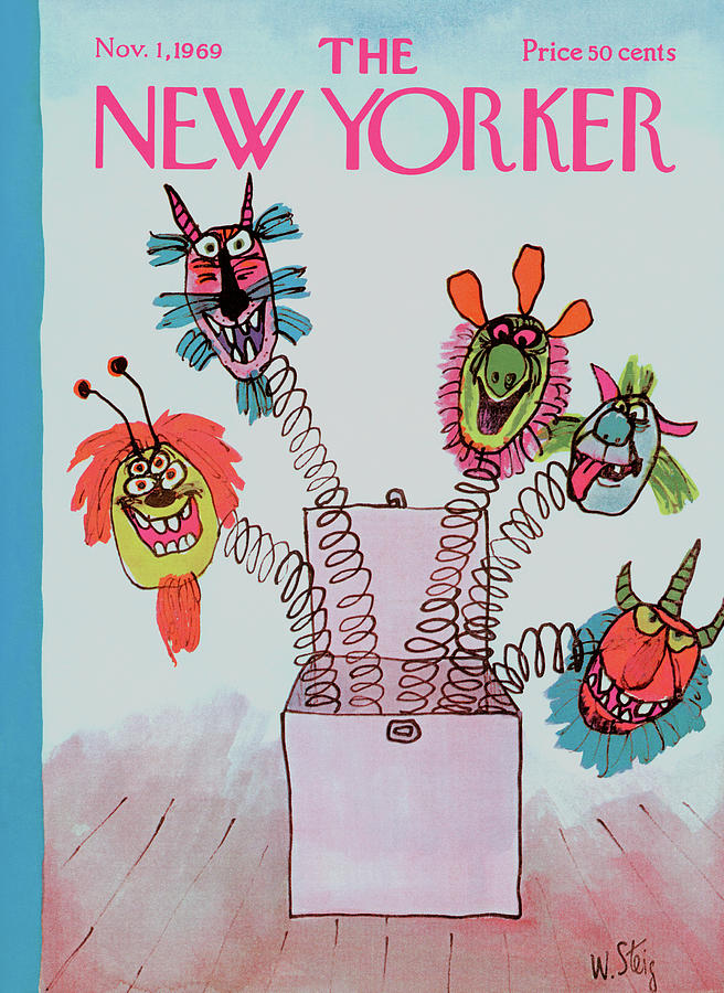 New Yorker November 1st, 1969 Painting by William Steig