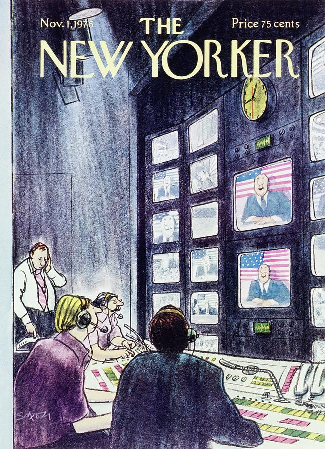 New Yorker November 1st 1976 Painting by Charles D Saxon