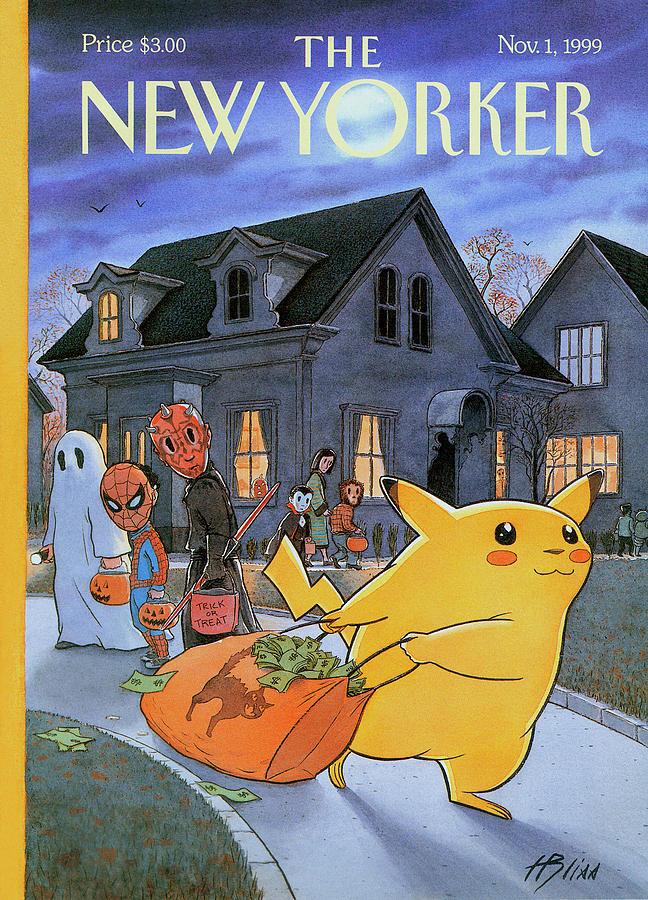Pokemon Painting - New Yorker November 1st, 1999 by Harry Bliss