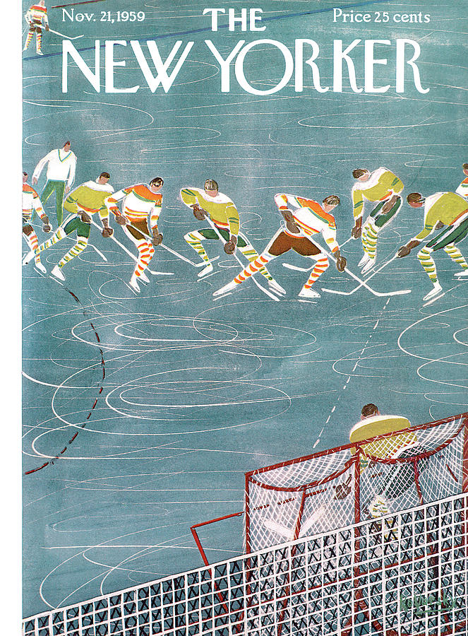New Yorker November 21st, 1959 Painting by Anatol Kovarsky