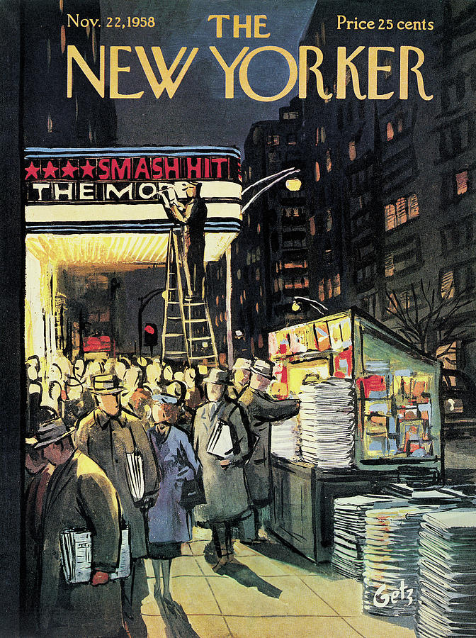 New Yorker November 22nd, 1958 Painting by Arthur Getz