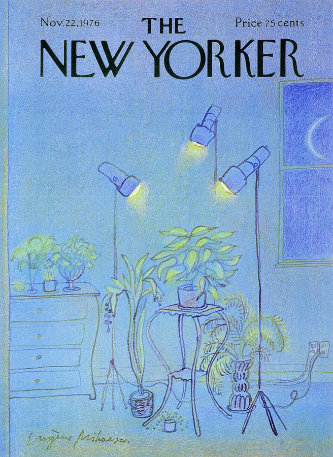 New Yorker November 22nd 1976 Painting by Eugene Mihaesco