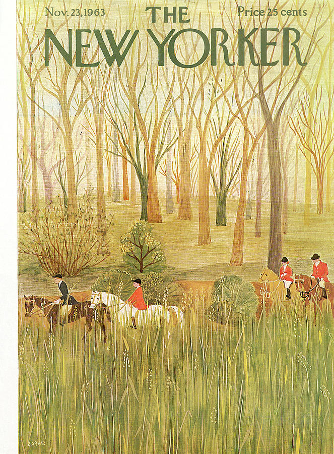 New Yorker November 23rd, 1963 Painting by Ilonka Karasz