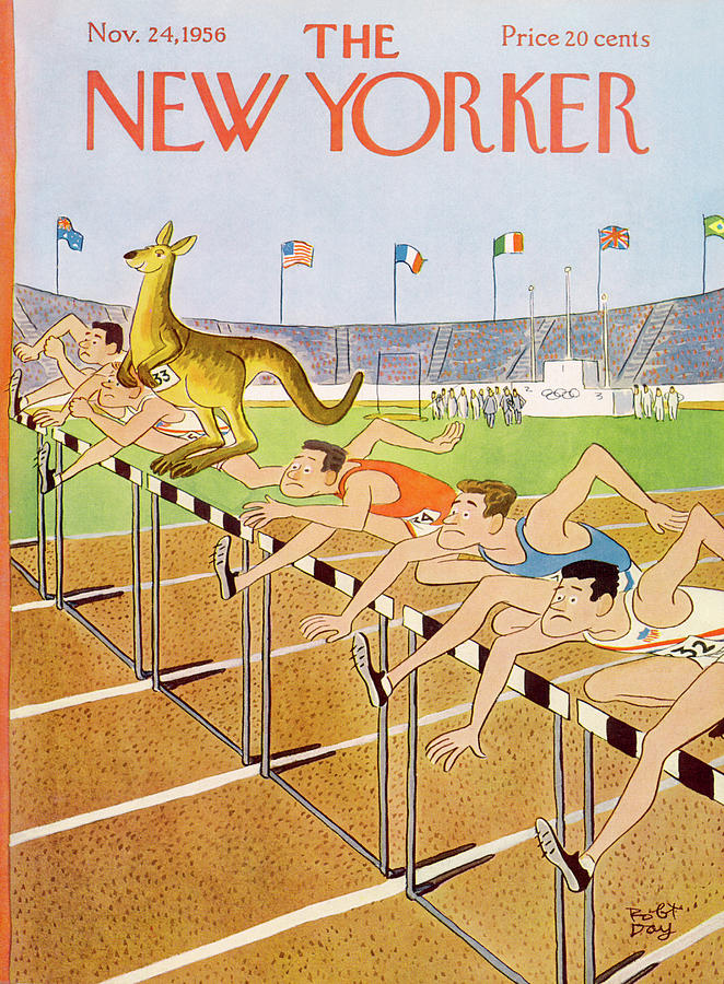 New Yorker November 24th, 1956 Painting by Robert J Day