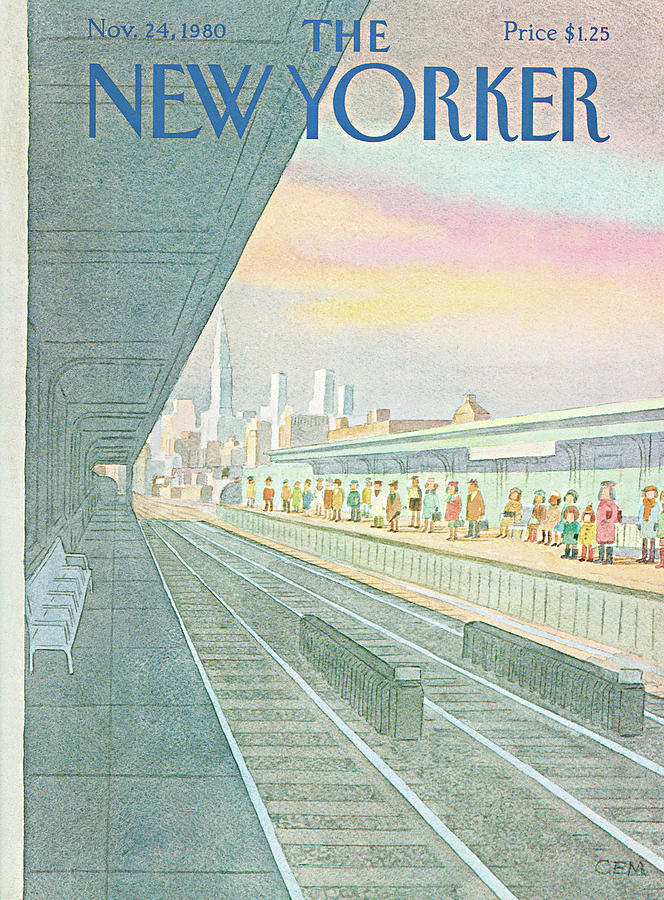 New Yorker November 24th, 1980 Painting by Charles E Martin