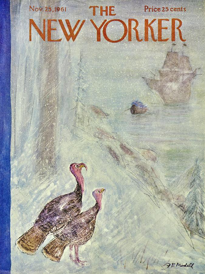 New Yorker November 25th 1961 Painting by Frank Modell