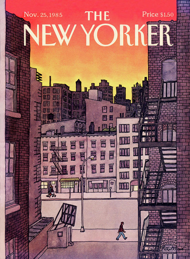 New Yorker November 25th, 1985 Painting by Roxie Munro