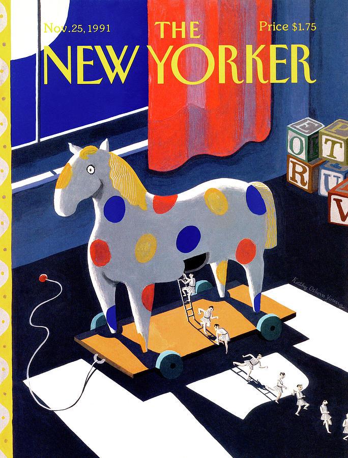 Animal Painting - New Yorker November 25th, 1991 by Kathy Osborn
