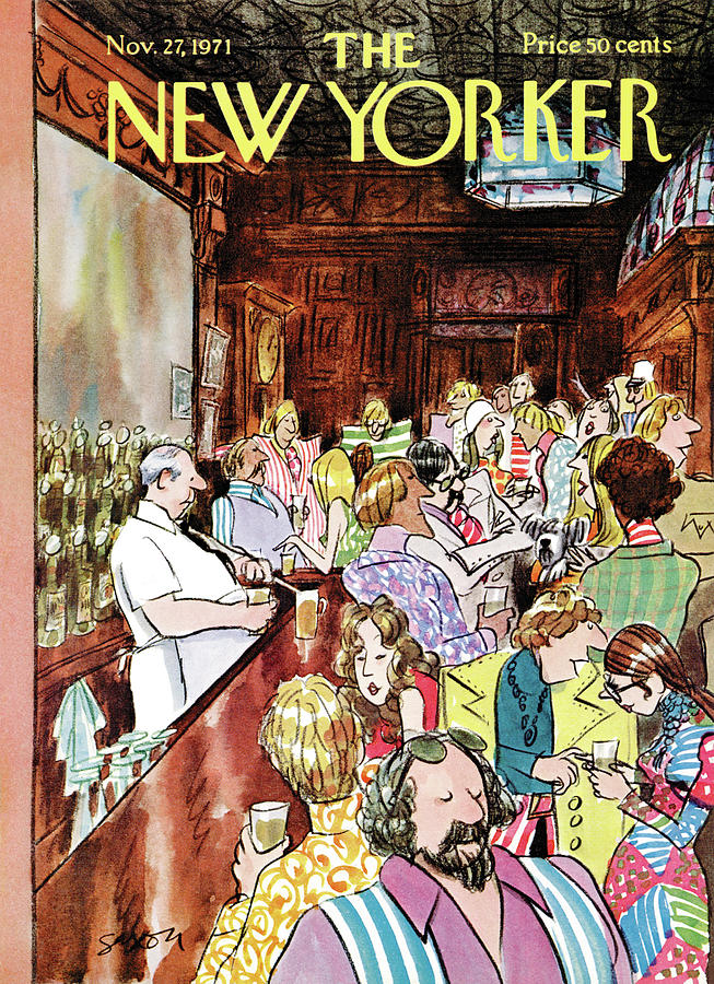 New Yorker November 27th, 1971 Painting by Charles Saxon