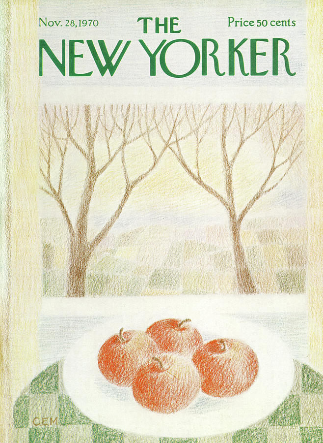 New Yorker November 28th, 1970 Painting by Charles E Martin