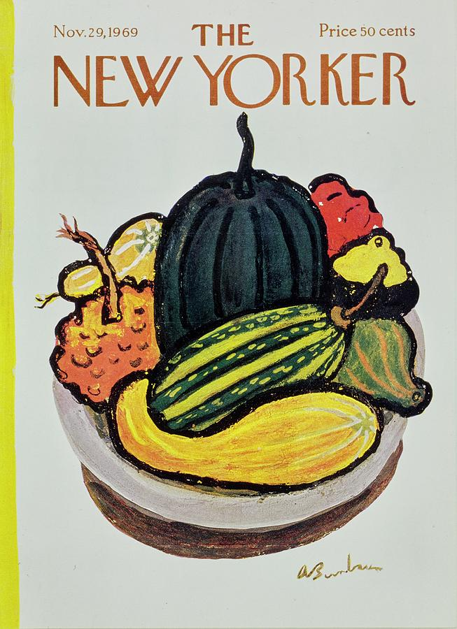 New Yorker November 29th 1969 Painting by Aaron Birnbaum