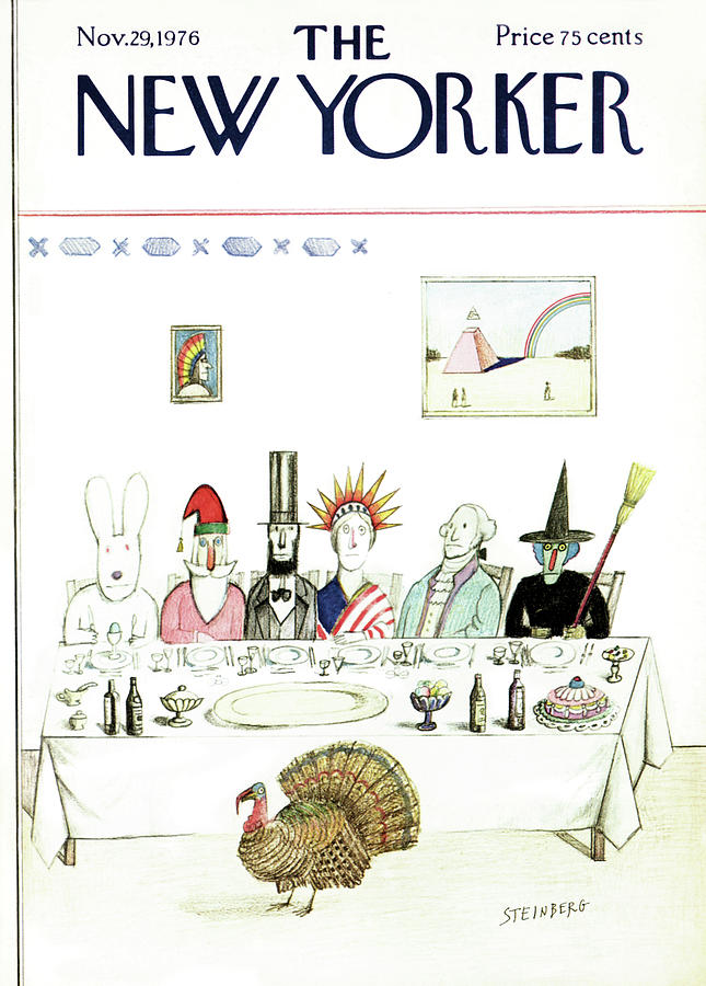 New Yorker November 29th, 1976 Painting by Saul Steinberg