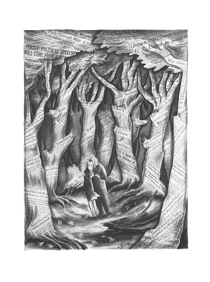 New Yorker November 2nd, 1940 Drawing by Constantin Alajalov