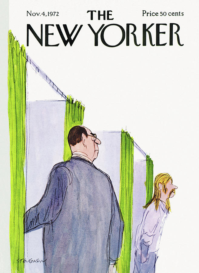 New Yorker November 4th, 1972 Painting by James Stevenson