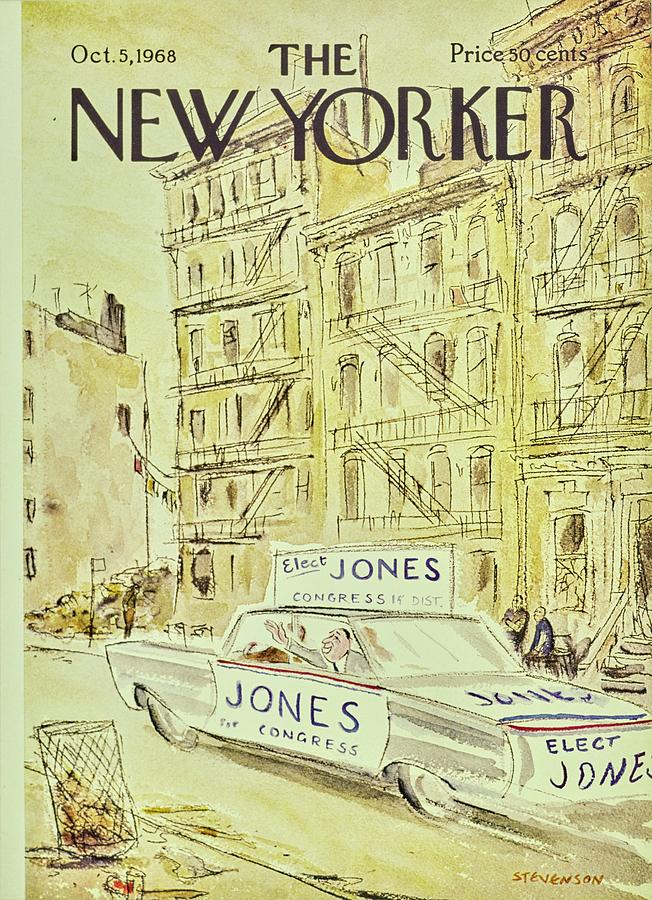 New Yorker October 5th 1968 Painting by James Stevenson