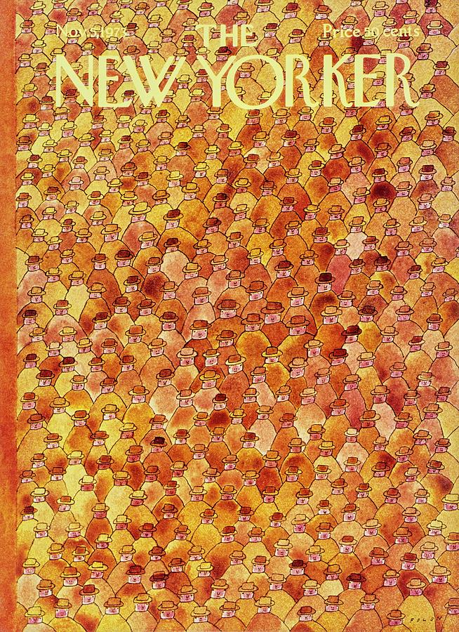 New Yorker November 5th 1973 Painting by Jean-Michel Folon