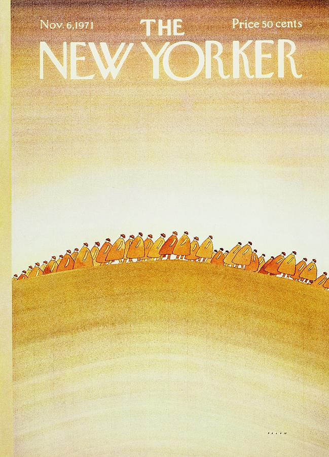 New Yorker November 6th 1971 Painting by Jean-Michel Folon