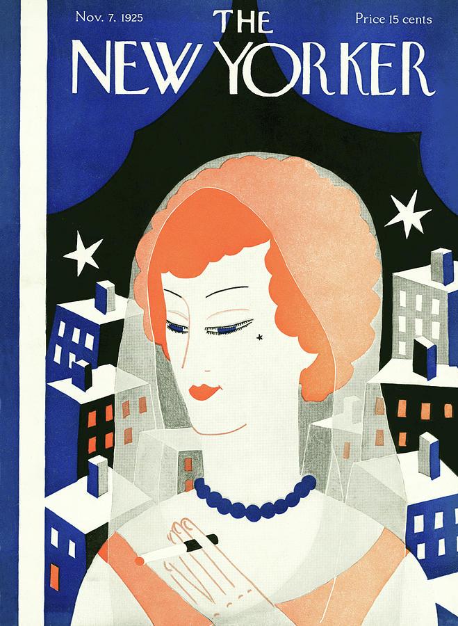 New Yorker November 7th, 1925 Painting by Ilonka Karasz