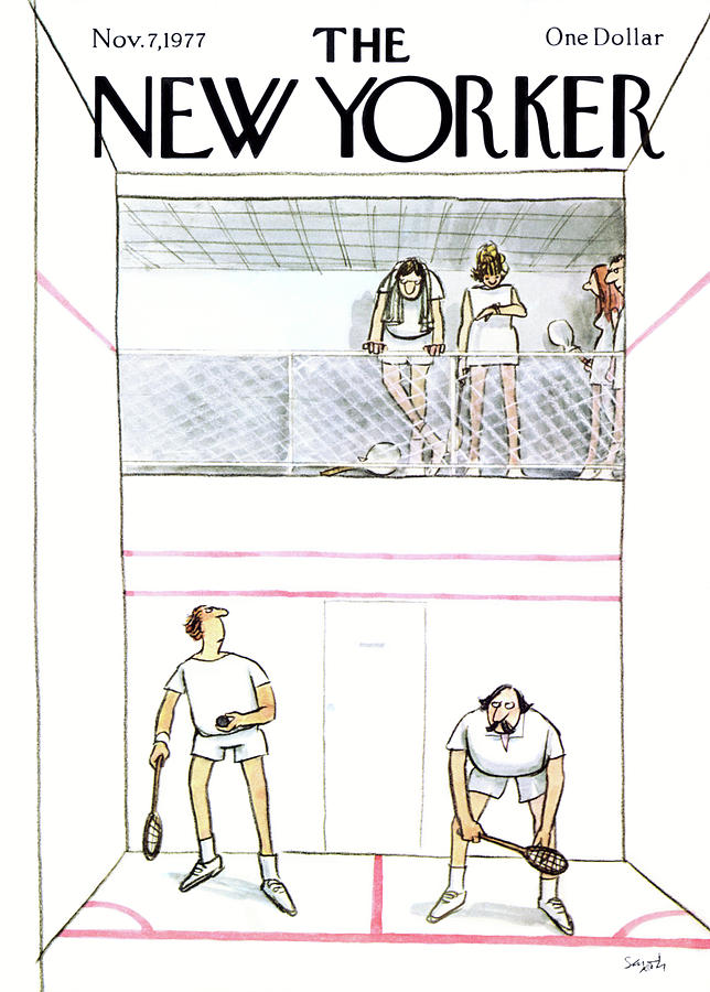 New Yorker November 7th, 1977 Painting by Charles Saxon