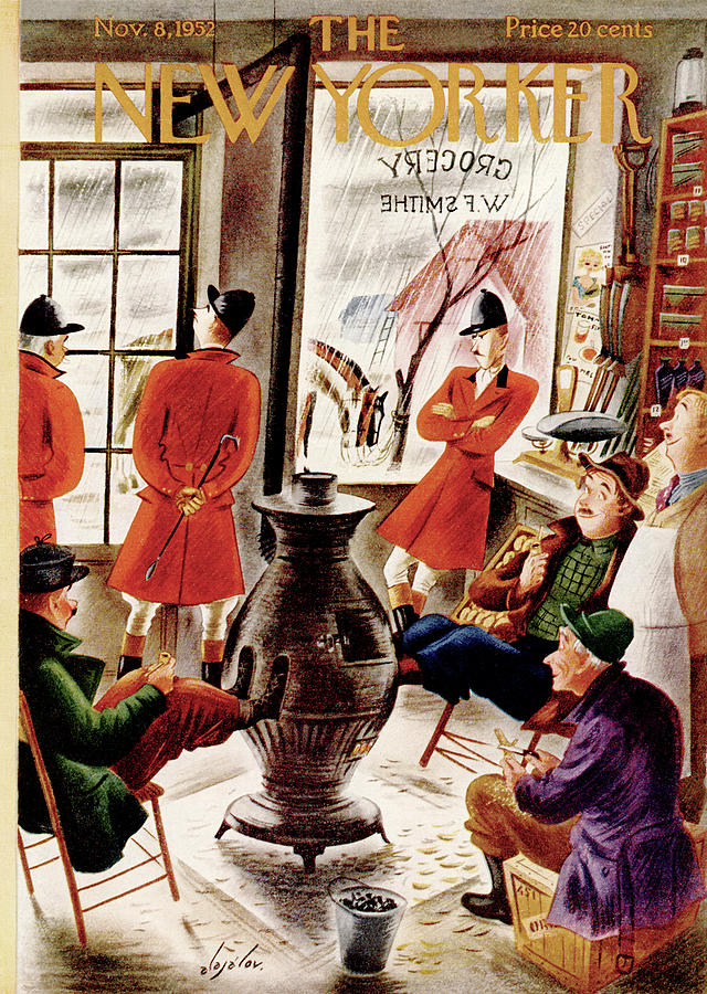 New Yorker November 8th, 1952 Painting by Constantin Alajalov