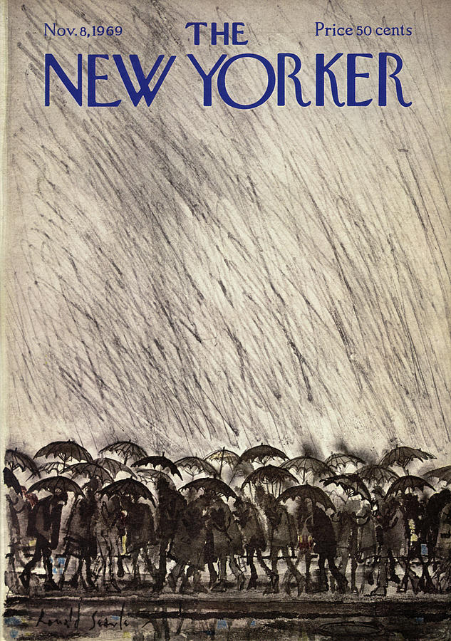 New Yorker November 8th, 1969 Painting by Ronald Searle