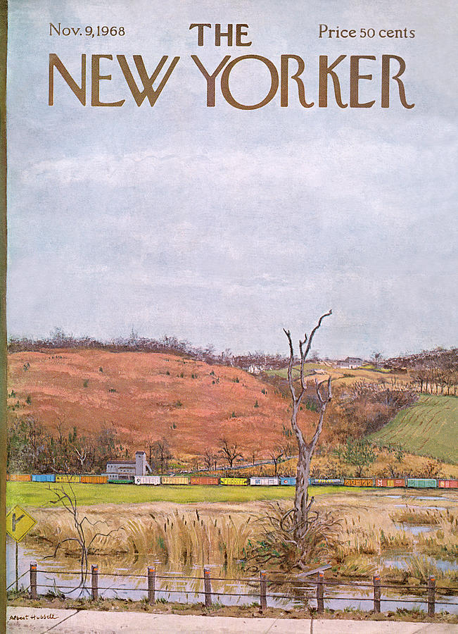 New Yorker November 9th, 1968 Painting by Albert Hubbell