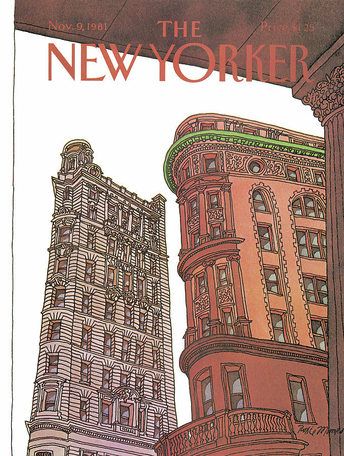 Business Offices Painting - New Yorker November 9th, 1981 by Roxie Munro