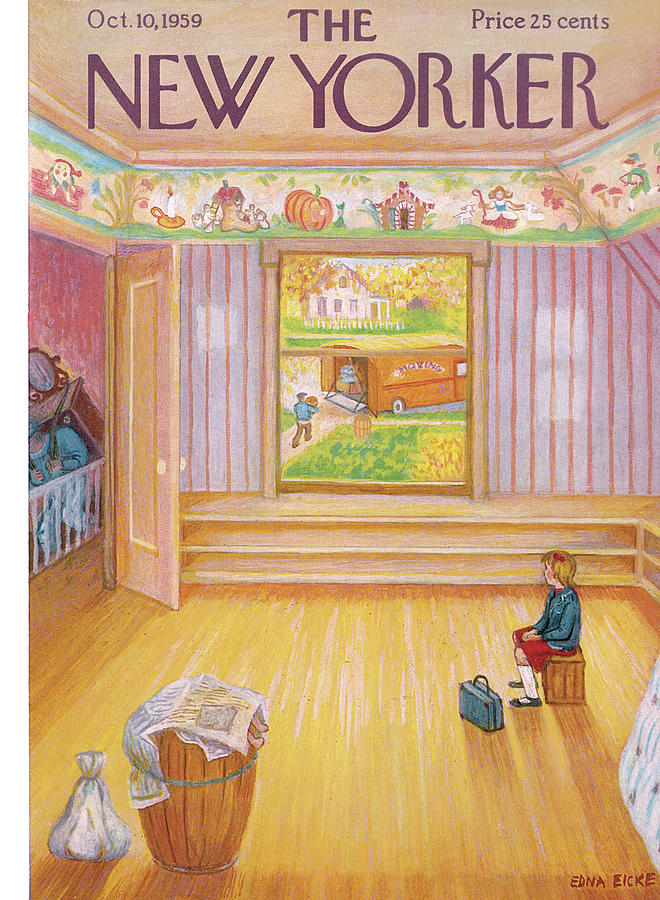 New Yorker October 10th, 1959 Painting by Edna Eicke