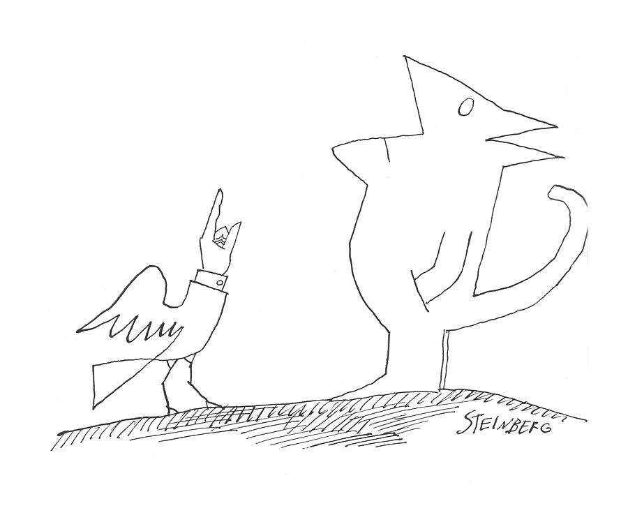New Yorker October 10th, 1964 Drawing by Saul Steinberg
