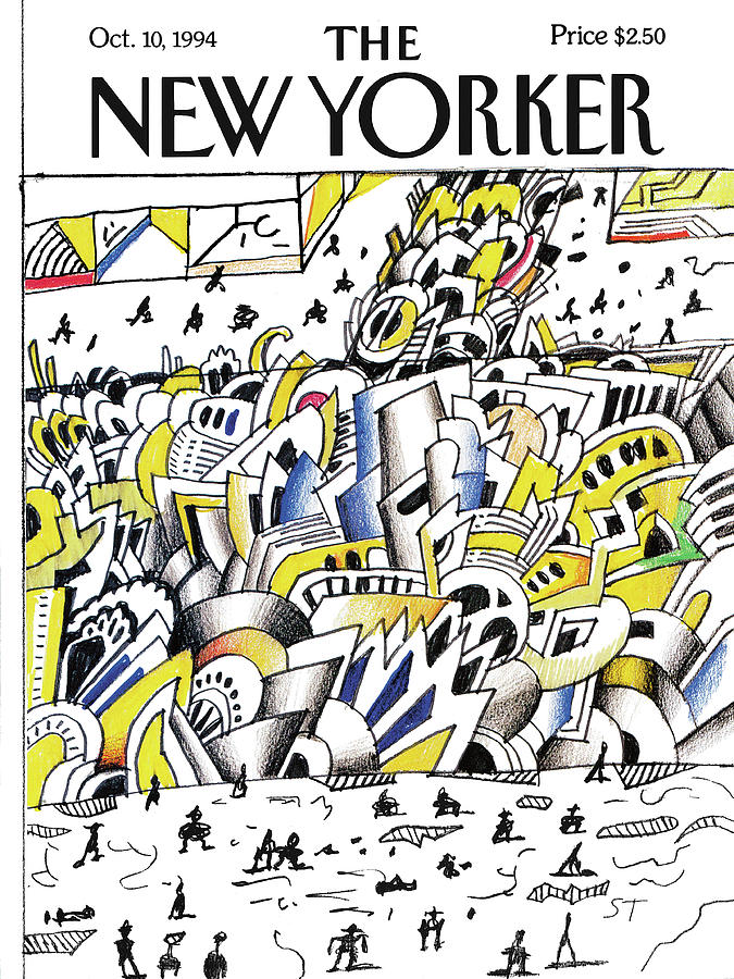 New Yorker October 10th, 1994 Painting by Saul Steinberg