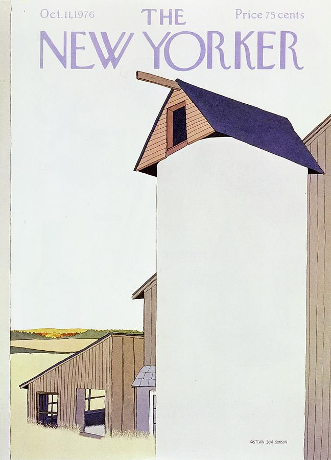 New Yorker October 11th 1976 Painting by Gretchen Dow Simpson