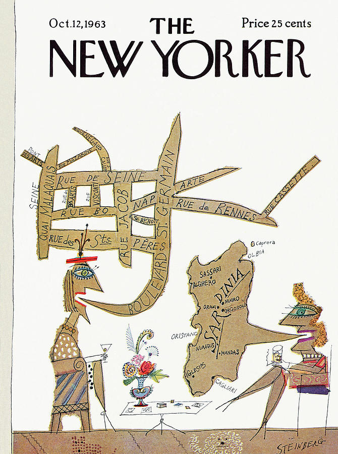 New Yorker October 12th, 1963 Painting by Saul Steinberg