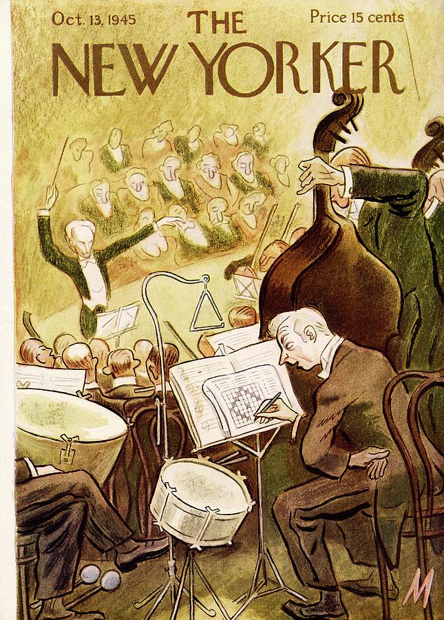 New Yorker October 13, 1945 Painting by Julian de Miskey