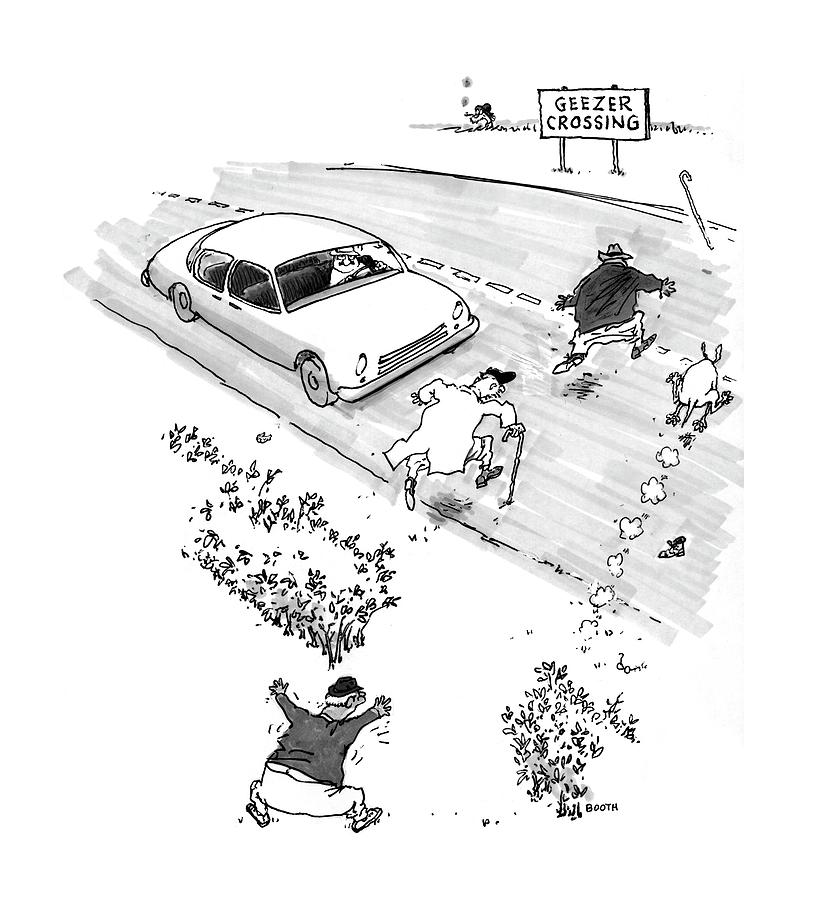 New Yorker October 13th, 1997 Drawing by George Booth