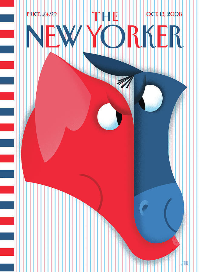 Face-Off Painting by Bob Staake